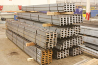 Stack of Channel Steel